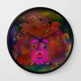 Garnet galaxy Wall Clock