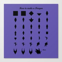 khaleesi Canvas Prints featuring How to make a Dragon by Michal Levin