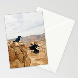 Meeting In Judean Desert Stationery Cards