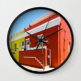 Colorful Bo-Kaap area of Cape Town Wall Clock