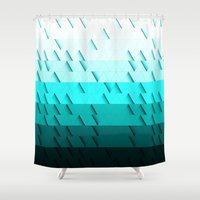 aqua Shower Curtains featuring Aqua by Luca Giobbe