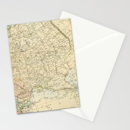 Old Map of the European Russia Stationery Cards