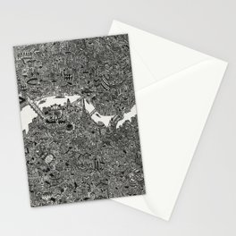 London map drawing ink pen Stationery Cards