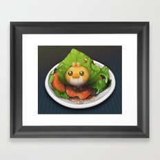 Pokemon Salad Framed Art Print