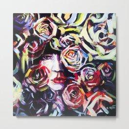 Rose in the garden  Metal Print