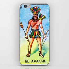 El Apache Mexican Loteria Bingo Card iPhone Skin