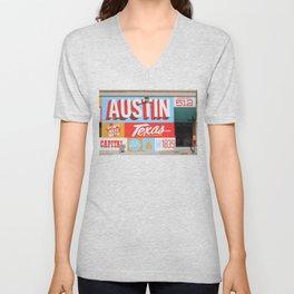 Austin, TX Unisex V-Neck