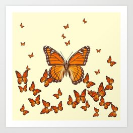 MONARCH BUTTERFLY SWARM Art Print