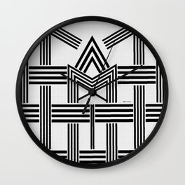 Black and White M Wall Clock