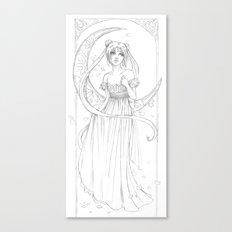 Sailor Moon-B&W Canvas Print