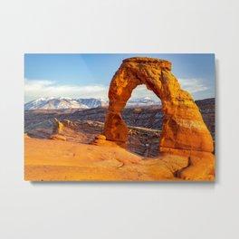 Delicate Arch Sunset Arches National Park Moab Utah Landscape Metal Print