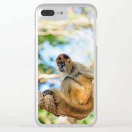 Spider Monkey Clear iPhone Case