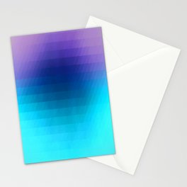 Sunset gradient pixels Stationery Cards
