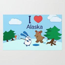 Ernest and Coraline | I love Alaska Rug