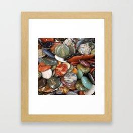 Inspiration Rocks Framed Art Print
