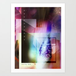 digital buds 1 Art Print