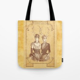 Sisters Emmaline And Cornelia Always Wore The Biggest Hats Tote Bag