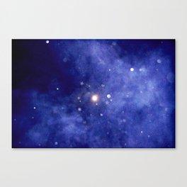 Purple Night Sky Canvas Print