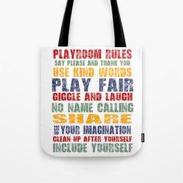 Playroom Rules - Scratch Font Tote Bag