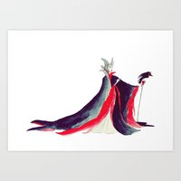 maleficent Art Prints featuring Maleficent by Christie Rainey