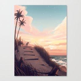 over my head Canvas Print