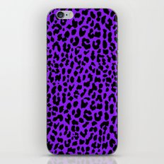 Neon Purple Leopard iPhone Skin