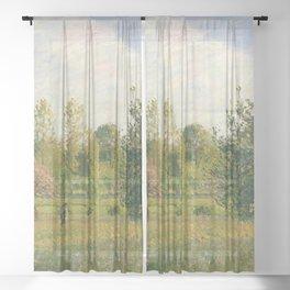"""Camille Pissarro """"Le pré à Éragny, été, soleil, fin d'après-midi"""" Sheer Curtain"""