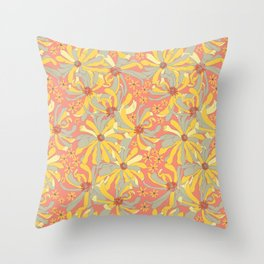 Hello Spring Blossoms Throw Pillow