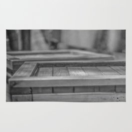 Wooden container Rug
