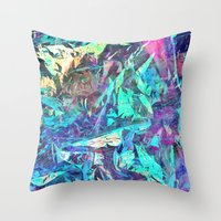 holographic Throw Pillows featuring Holographic II by Nestor2