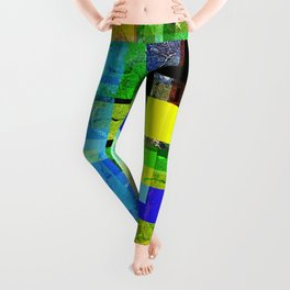 Colorful, multi-layered abstraction. Leggings