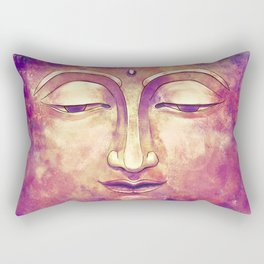 Trippy Buddha Face Painting in pink and orange for girls Rectangular Pillow