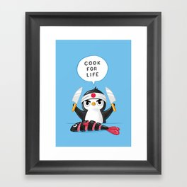 Penguin Chef Framed Art Print