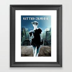 Kitten Jeanne Framed Art Print