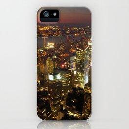 New York Empire State Night iPhone Case