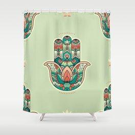 Hamsa Hand Pattern Shower Curtain