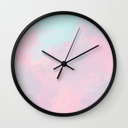 Modern hand painted pink teal lavender watercolor Wall Clock