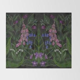 The Poison Garden - Mandragora Throw Blanket