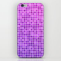 mosaic iPhone & iPod Skins featuring Pink purple mosaic by David Zydd