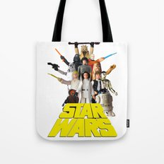 Star War Action Figures Poster - First 12 Tote Bag