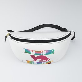 Fancy Ferret design Pet Lovers Mom Dad Colorful Rainbow Swirl product Fanny Pack