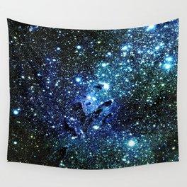 Ocean Blue Space Galaxy : Eagle Nebula Wall Tapestry