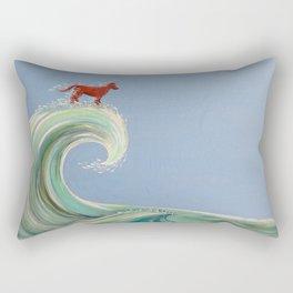Surfing Kelpie Rectangular Pillow