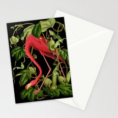Flamingo Black Stationery Cards