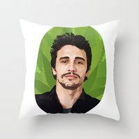 james franco Throw Pillows featuring James Franco by WeedPornDaily