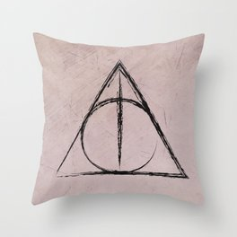 Deathly Hallows (Harry Potter) Throw Pillow