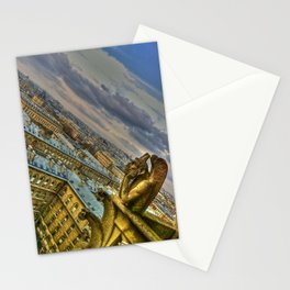 Gargoyle of the Notre Dame, Paris, France Stationery Cards
