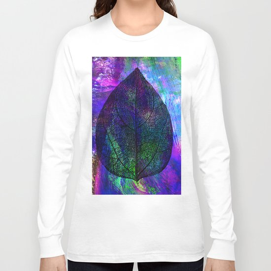Blue leaf Long Sleeve T-shirt