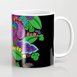 Psychedelic Paisley Tree - on Black Background Coffee Mug