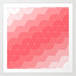 Coral Red Triangles Art Print